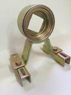 00011RC~6 軸受(角Uボルト用)(C鋼、角パイプ等に使用)(骨材の大きさにより、Uボルトの大きさが違います)
