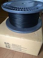コーティングワイヤーロープ 13A 黒色ナイロン66被覆1000m巻