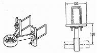 軸受  1B 角パイプ、C鋼、H鋼用、ボールベアリング使用、UM