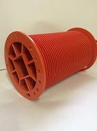 0002C 76.3Φドラム(移動防止金具付)(色:オレンジ、材質:樹脂)