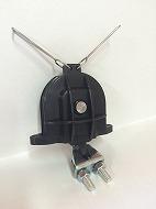 ロープ受滑車  6B ワイヤークリップ付、黒色樹脂製、PL,UM