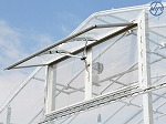 ニューツマソー ●幅1,300mm ●高さ600mm ヒモを引くだけで無段階の開閉ができます 付属のフレームにネットを展張し窓枠にはめるだけで防虫ができます